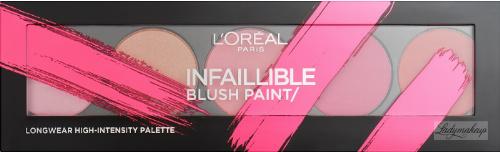 L'Oréal - INFAILLIBLE BLUSH PAINT - Paleta 5 róży do policzków
