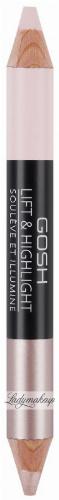 GOSH - LIFT & HIGHLIGHT - Produkt 2 w 1 - Rozświetlacz i korektor