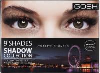 GOSH - 9 SHADES - METALLIC SHADOW COLLECTION - Paleta 9 cieni do powiek - 005 TO PARTY IN LONDON