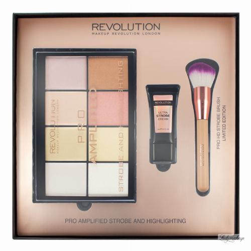 MAKEUP REVOLUTION - PRO AMPLIFIED STROBE AND HIGHLIGHTING - Zestaw do rozświetlania twarzy