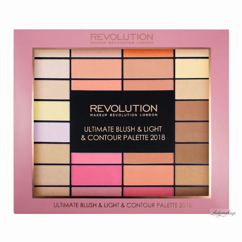 MAKEUP REVOLUTION - ULTIMATE BLUSH & LIGHT & CONTOUR PALETTE 2018 - Paleta pudrów, róży, rozświetlaczy i bronzerów