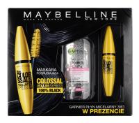 MAYBELLINE - THE COLOSSAL VOLUM' EXPRESS MASCARA & GARNIER MICELLAR CLEANSING WATER - Pogrubiający tusz do rzęs + płyn micelarny