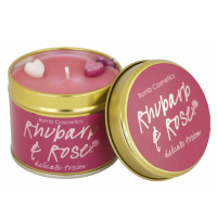 Bomb Cosmetics - Rhubarb Rose - Handmade scented candle with essential oils