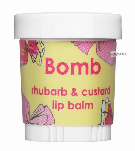 Bomb Cosmetics - Rhubarb & Custard - Balsam do ust - BUDYŃ Z RABARBAREM