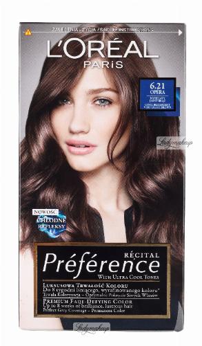 L'Oréal - Récital Préférence - 6.21 OPERA - Farba do włosów - Trwała koloryzacja - Popielaty, jasny brąz