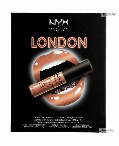 NYX Professional Makeup - CITYSET Wanderlust Lip, Eye & Face Palette - Zestaw kosmetyków do makijażu - LONDON 2.0