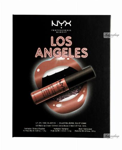 NYX Professional Makeup - CITYSET Wanderlust Lip, Eye & Face Palette - Zestaw kosmetyków do makijażu - LOS ANGELES 2.0