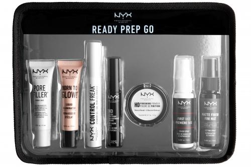 NYX Professional Makeup - READY PREP GO - Zestaw kosmetyków do makijażu + kosmetyczka