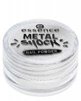 Essence - METAL SHOCK - NAIL POWDER - Puder do lakieru do paznokci - 01 - 01