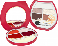 PUPA - OWL 2 - 003 Warm Shades - Set for eye and lip make-up
