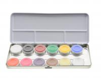 KRYOLAN - AQUACOLOR - Paleta 12 farb wodnych do malowania twarzy - ART. 1104 - SN - SN