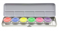 Kryolan - Aquacolor - Palette of 6 UV paints