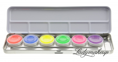 Kryolan - Aquacolor - Paleta 6 farb UV