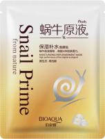 BIOAQUA - Snail Prime From Nature - Maska do twarzy w płacie z ekstraktem z piwonii i śluzu ślimaka