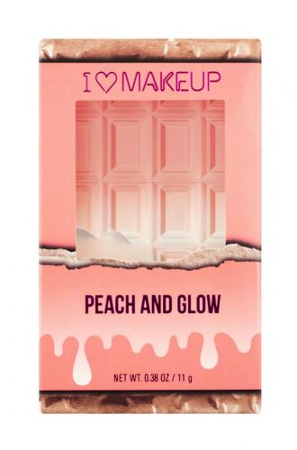 I Heart Revolution - PEACH AND GLOW - HIGHLIGHT & ILLUMINATOR DUO - Rozświetlająca paleta do konturowania twarzy