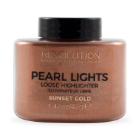 MAKEUP REVOLUTION - PEARL LIGHTS - LOOSE HIGHLIGHTER - Sypki rozświetlacz - SUNSET GOLD - SUNSET GOLD