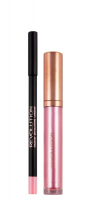 MAKEUP REVOLUTION - RETRO LUXE - METALLIC LIP KIT - Lip Pencil & Liquid Lipstick - IN WAITING - IN WAITING