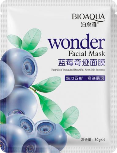 BIOAQUA - Wonder Facial Mask - Maska do twarzy w płacie z ekstraktem z borówki amerykańskiej