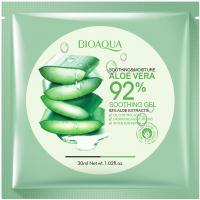 BIOAQUA - SOOTHING & MOISTURE ALOE VERA 92% soothing gel - Łagodząca maska do twarzy w płacie