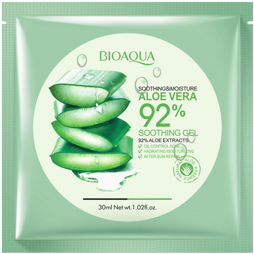 BIOAQUA - SOOTHING & MOISTURE ALOE VERA 92% Soothing Gel Sheet Mask