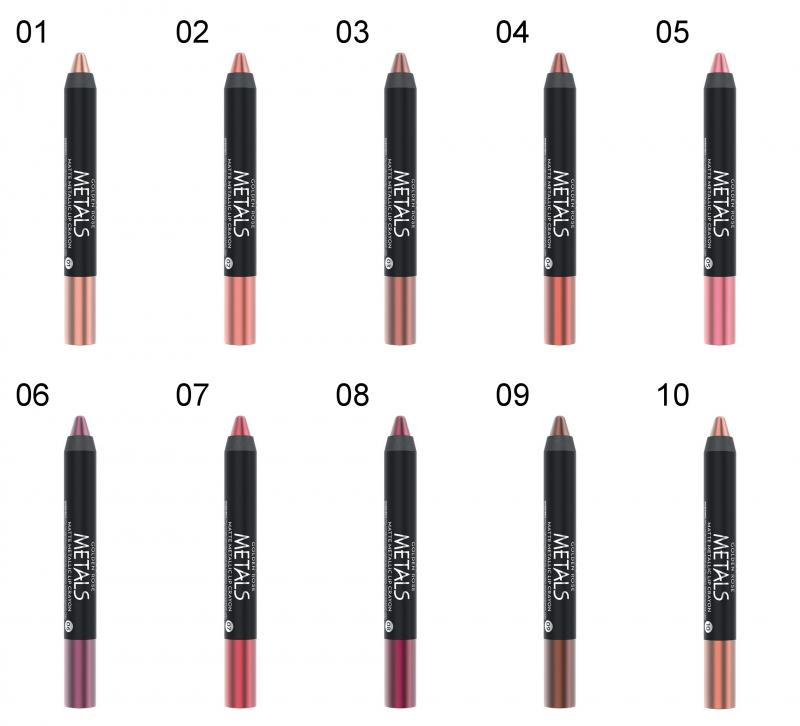Golden Rose Metals Matte Metallic Lip Crayon