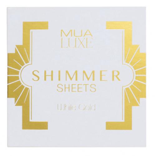 MUA - LUXE - Shimmer Sheets - Rozświetlające bibułki do twarzy
