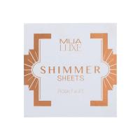MUA - LUXE - Shimmer Sheets - Rozświetlające bibułki do twarzy - ROSE GOLD - ROSE GOLD