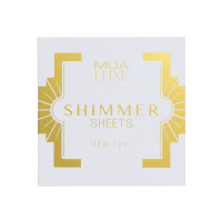 MUA - LUXE - Shimmer Sheets by MUA - Illuminating papers - WHITE GOLD - WHITE GOLD