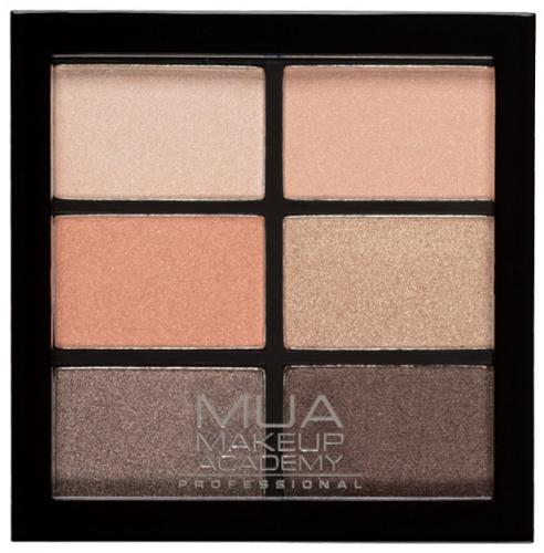 MUA - 6 Shade Palette - Coral Delights - Paleta 6 cieni do powiek