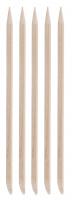 Inter-Vion - Drewniane patyczki do manicure - Krótkie owalne - 5 sztuk