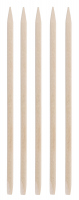 Inter-Vion - Wooden manicure sticks - Short rectangular - 5 pieces