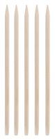 Inter-Vion - Drewniane patyczki do manicure - Krótkie prostokątne - 5 sztuk