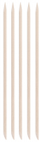 Inter-Vion - Wooden manicure sticks - Long oval - 5 pieces