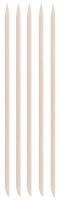 Inter-Vion - Drewniane patyczki do manicure - Długie owalne - 5 sztuk