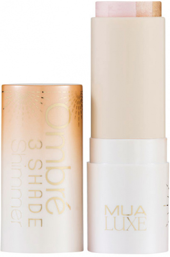 MUA - LUXE - Ombre 3 Shade Shimmer Highlighter - Tri-color highlighter stick