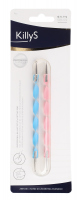KillyS - PROFESSIONAL NAIL ART SET OF 2 DOTTING PENS