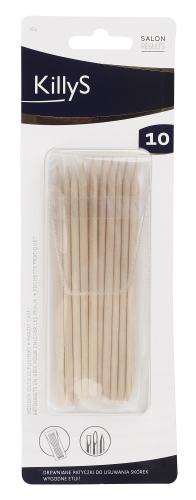 KillyS - Drewniane patyczki do manicure - 10 sztuk w etui