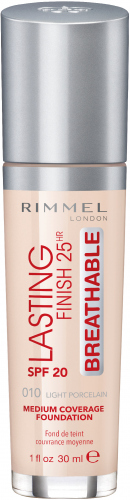 RIMMEL - LASTING FINISH 25HR - BREATHABLE - Ultralekki, kryjący podkład
