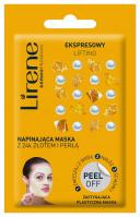 Lirene - Napinająca maska z 24k złotem i perłą - PEEL OFF