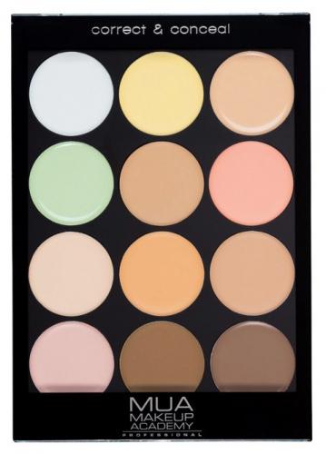 MUA - Correct & Conceal Palette - Professional contouring palette