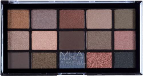 MUA - 15 Shade Palette - Spiced Charm - Paleta 15 cieni do powiek