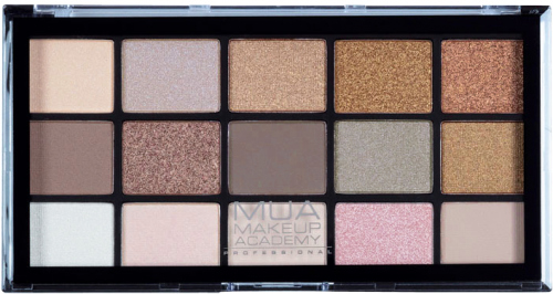MUA - 15 Shade Palette - Heavenly Neutral - Paleta 15 cieni do powiek