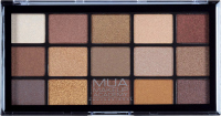 MUA - 15 Shade Palette - Au-Naturel - Paleta 15 cieni do powiek