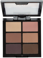 MUA - 6 Shade Palette - Matte Soft Suedes - Paleta 6 matowych cieni do powiek