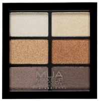 MUA - 6 Shade Palette - Glamour Golds - Paleta 6 cieni do powiek