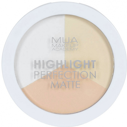 MUA - Hightlight Perfection Matte - Natural Light - Zestaw 3 matowych rozświetlaczy