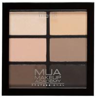 MUA - 6 shade palette - Matte Natural Essentials - Palette of 6 matte eyeshadows