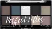 NYX Professional Makeup -  Perfect Filter Eye Shadow Palette - Gloomy Days - Paleta 10 cieni do powiek