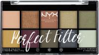 NYX Professional Makeup -  Perfect Filter Eye Shadow Palette - Olive You - Paleta 10 cieni do powiek
