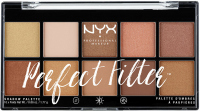 NYX Professional Makeup - Perfect Filter Eye Shadow Palette - Golden Hour - Paleta 10 cieni do powiek